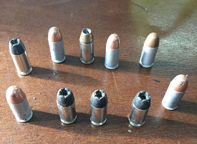 Rounds of .45 calibre ammunition