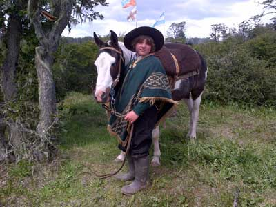Siegfriedo Humboldt, a German third generation gaucho. Rural Tierra del Fuego.