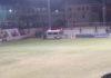 Ambulance at football field