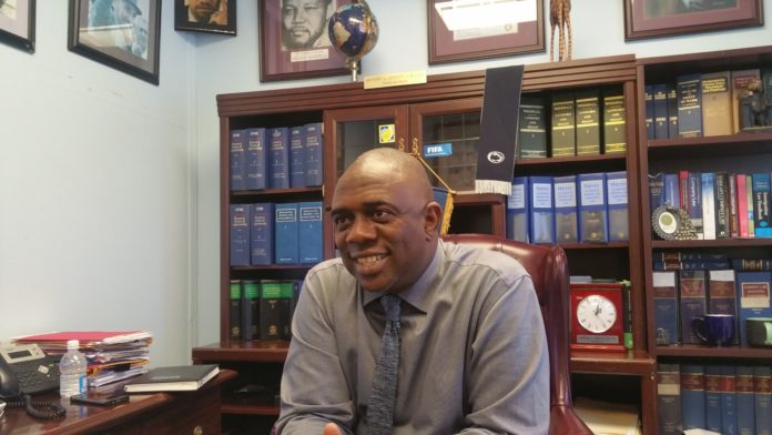 Anthony Johnson, the president of the St. Kitts Nevis Football Association (SKNFA)