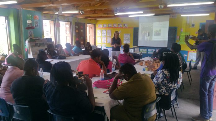 Christophe Harbor foundation work shop at Sandy Point Primary