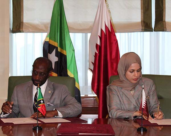 St. Kitts and Nevis establish diplomatic relations with Qatar