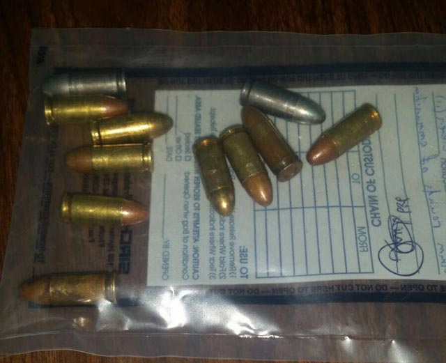 Eleven rounds of ammunition seized in stop and search on November 01