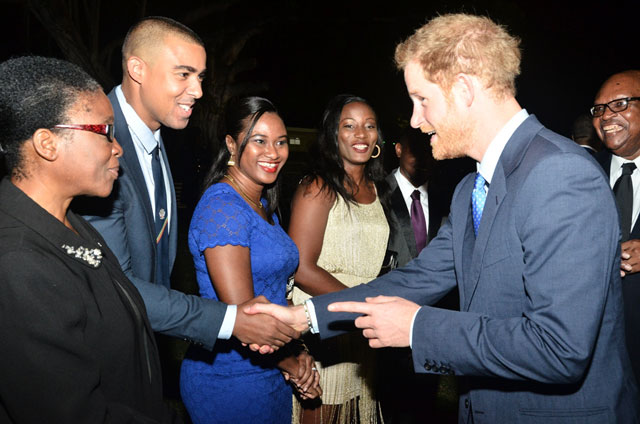 Prince Harry interacts with members of the Law Fraternity