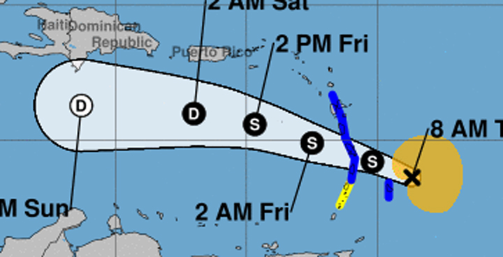 Kirk regenerates into tropical storm, may dump inches of rain on BVI