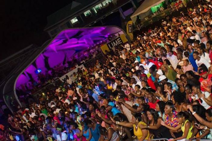 Crowds at the St. Kitts Music Festival