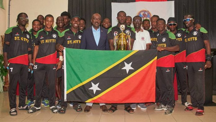 St. Kitts National Cricket team after winning the 2016 Leeward Island Cricket Tournament