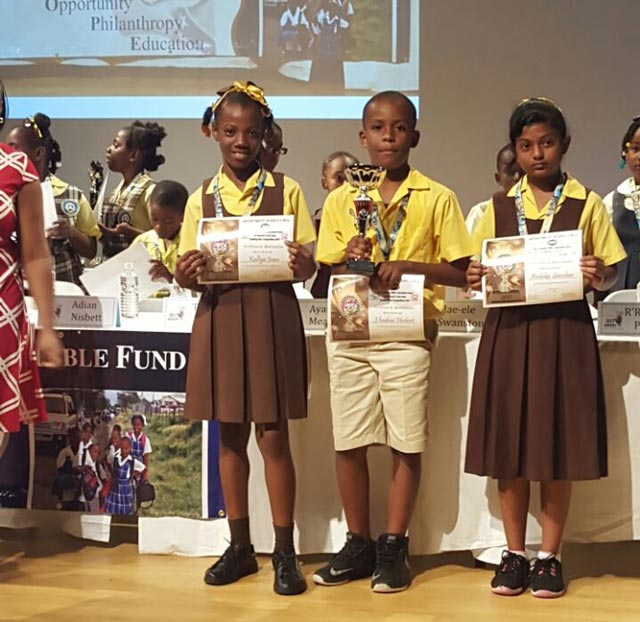 St  Thomas Primary School takes 11th Annual Spelling Bee Competition