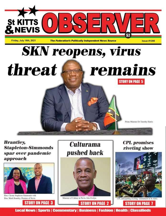 Newspaper Cover for 16th July, 2021