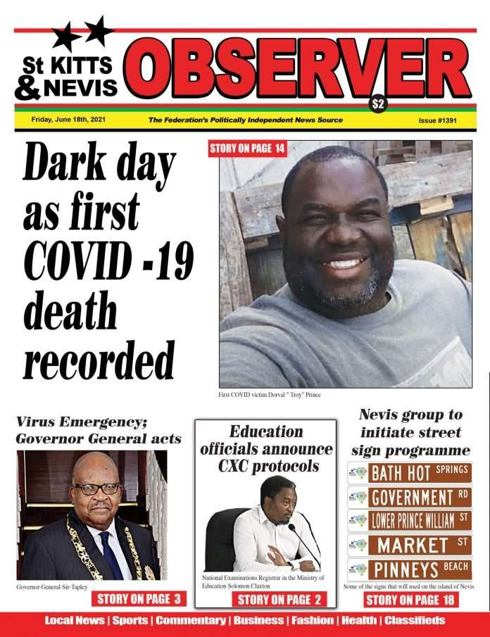 Observer Newspaper cover June 18th, 2021