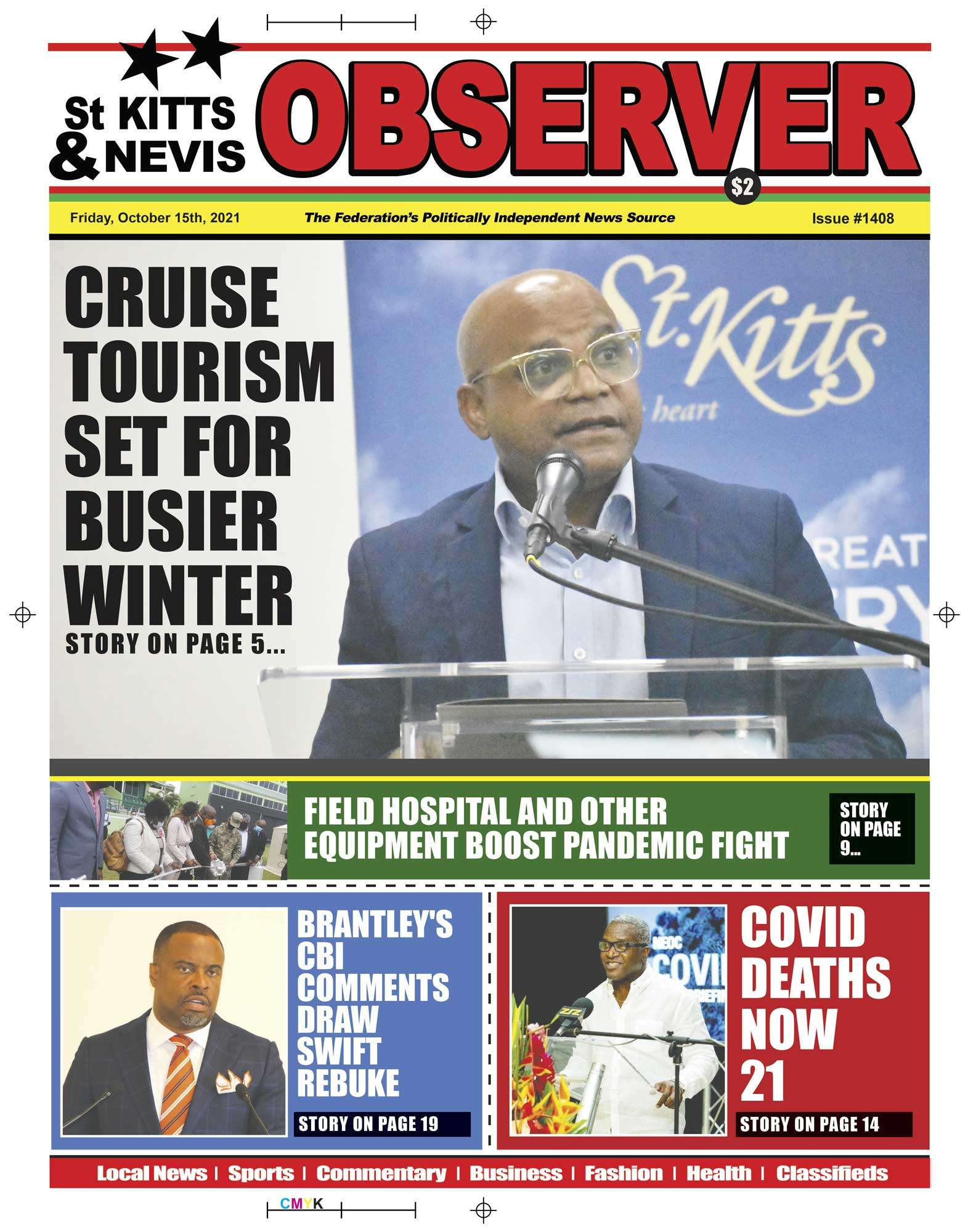 Newspaper Cover 15th October, 2021