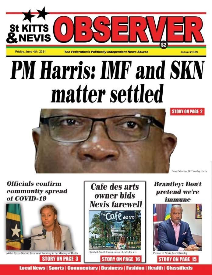 Observer Newspaper cover June 4th, 2021